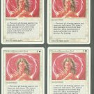 Circle of Protection Red x4 - NM - Revised - Magic the Gathering