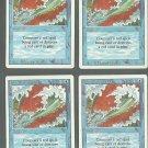 Blue Elemental Blast x4 NM Revised Magic the Gathering