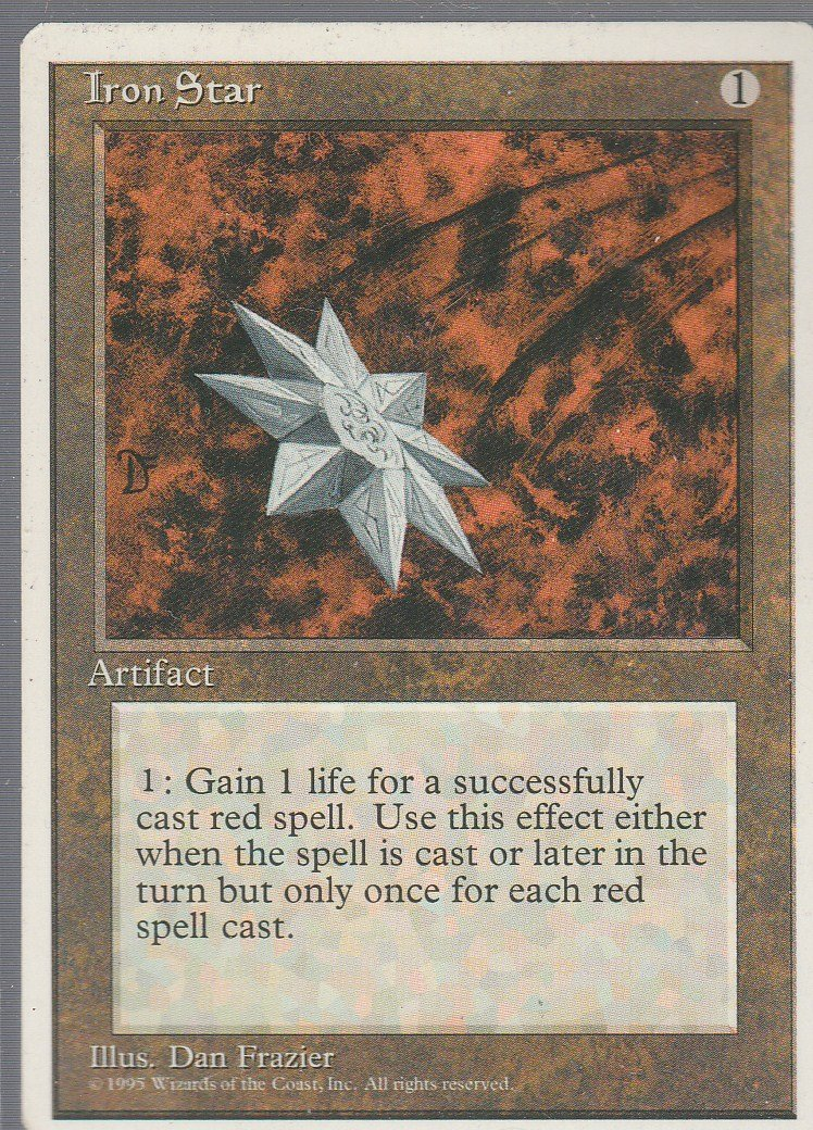 Iron Star - Good - 4th Edition - Magic the Gathering
