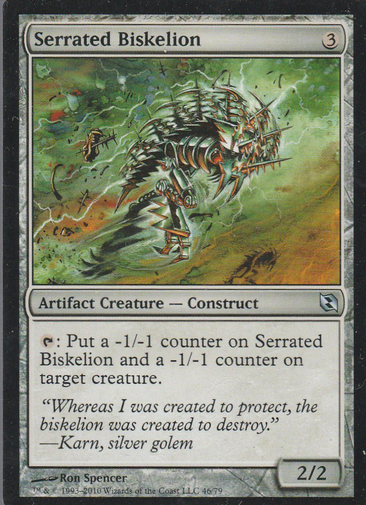 Serrated Biskelion - NM - Elspeth vs Tezzeret - Magic the Gathering
