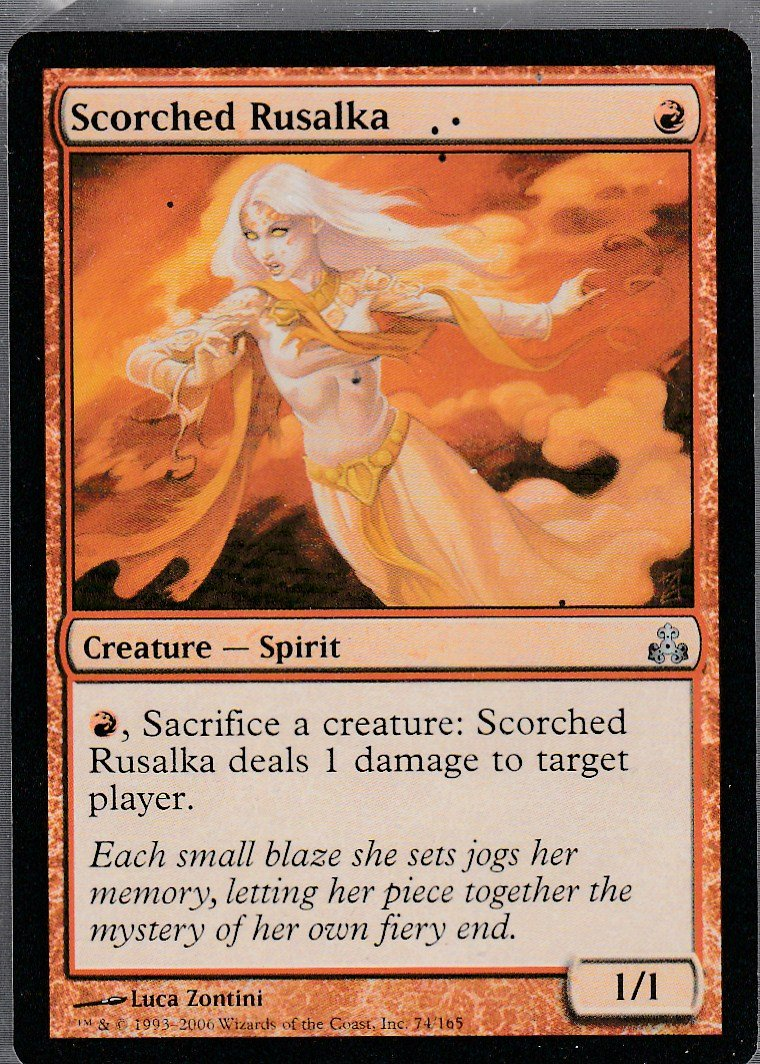 Scorched Rusalka - NM - Guildpact - Magic the Gathering