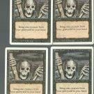 Raise Dead x4 - NM - Revised - Magic the Gathering