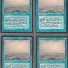 Tidal Flats V2 x4 - Good - Fallen Empires - Magic the Gathering