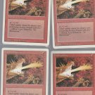 Firebreathing x4 - VG - Revised - Magic the Gathering