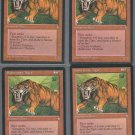 Sabretooth Tiger x4 - Good - Ice Age - Magic the Gathering