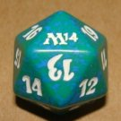 Life Counter Die - NM - Green/Blue/White - Magic 2014 - Magic the Gathering