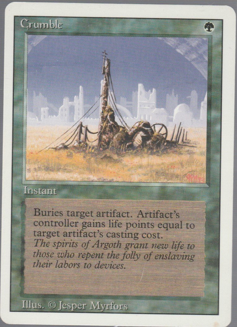 Crumble - VG - Revised- Magic the Gathering