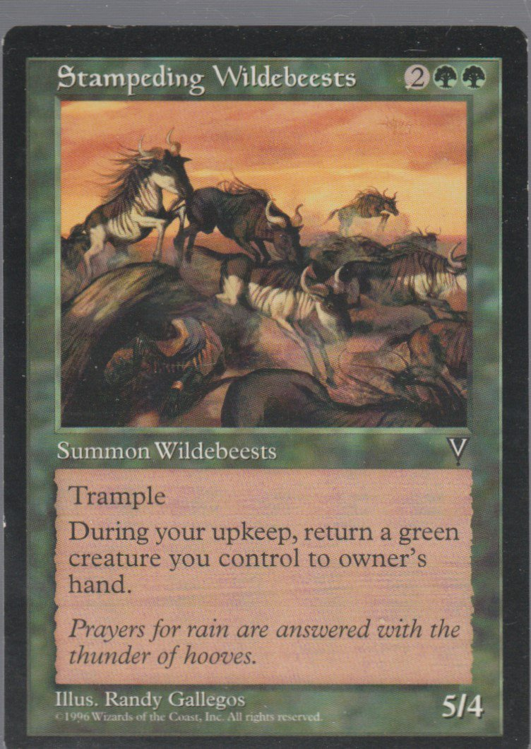 Stampeding Wildebeests - VG - Visions - Magic the Gathering