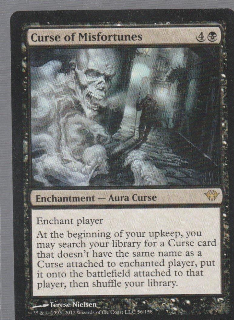 Curse of Misfortunes - NM - Dark Ascension - Magic the Gathering