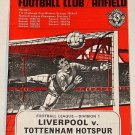 LIVERPOOL v TOTTENHAM HOTSPUR- 21.DEC.68 - Football Programme