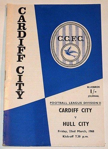 CARDIFF CITY v HULL CITY - 22.MAR.68 - Football Programme