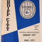 CARDIFF CITY v HULL CITY - 22.MAR.68 - Football Programme