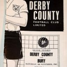 DERBY COUNTY v BURY - 04.NOV.61 - Football Programme