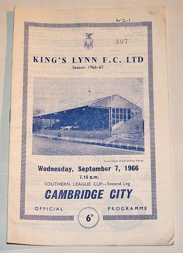 KINGS LYNN v CAMBRIDGE CITY - 07.SEP.1966 - Football Programme