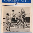 CARDIFF CITY v NORWICH CITY - 10.MAY.66 - Football Programme