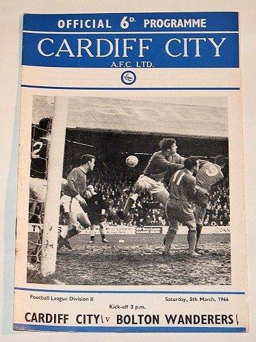 CARDIFF CITY v BOLTON WANDERERS - 05.MAR.66 - Football Programme