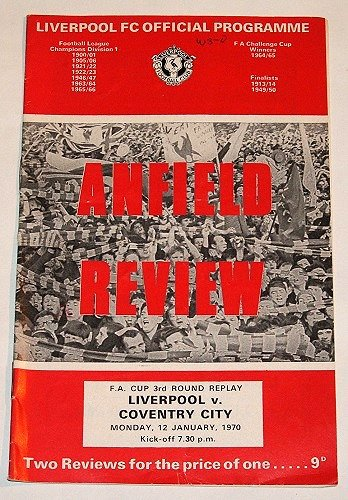 LIVERPOOL v COVENTRY CITY - 12.JAN.70 - Football Programme