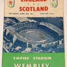 ENGLAND v SCOTLAND - 15.APR.61 - Football Programme
