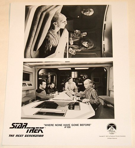 """ep.106 STAR TREK : NEXT GENERATION """"Where None Have Gone Before"""" publicity items"""