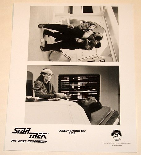 """STAR TREK : NEXT GENERATION : Show 108 """"LONELY AMONG US"""" publicty photo"""
