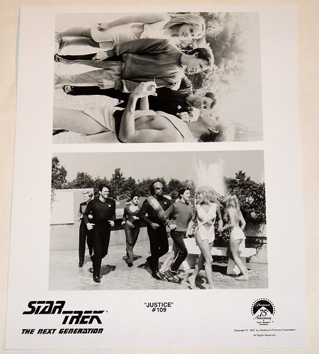 "STAR TREK : NEXT GENERATION : Show 109 ""Justice"" publicity items"