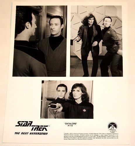 "STAR TREK : NEXT GENERATION : Show 114 ""Datalore"" publicity photo"