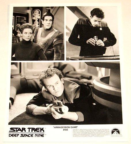 "STAR TREK : DEEP SPACE NINE : Show 433 ""Armageddon Game"" 2x publicity photos"