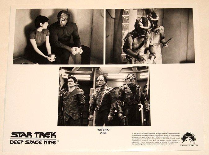 "STAR TREK : DEEP SPACE NINE : Show 568 ""Umbra"" 2x publicity photos"