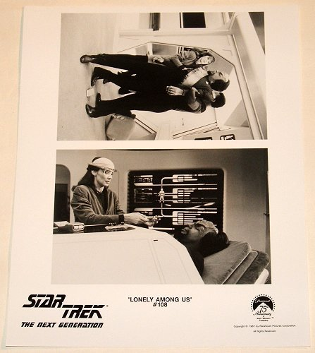 """STAR TREK : NEXT GENERATION : Show 108 """"Lonely Among Us"""" publicity items"""