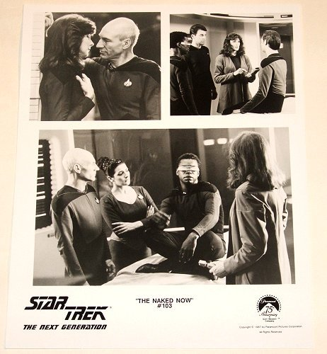 "STAR TREK : NEXT GENERATION : Show 103 ""The Naked Now"" publicity items"