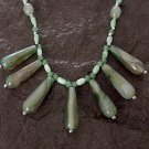 Handmade Beautiful Green Agate Drops Necklace
