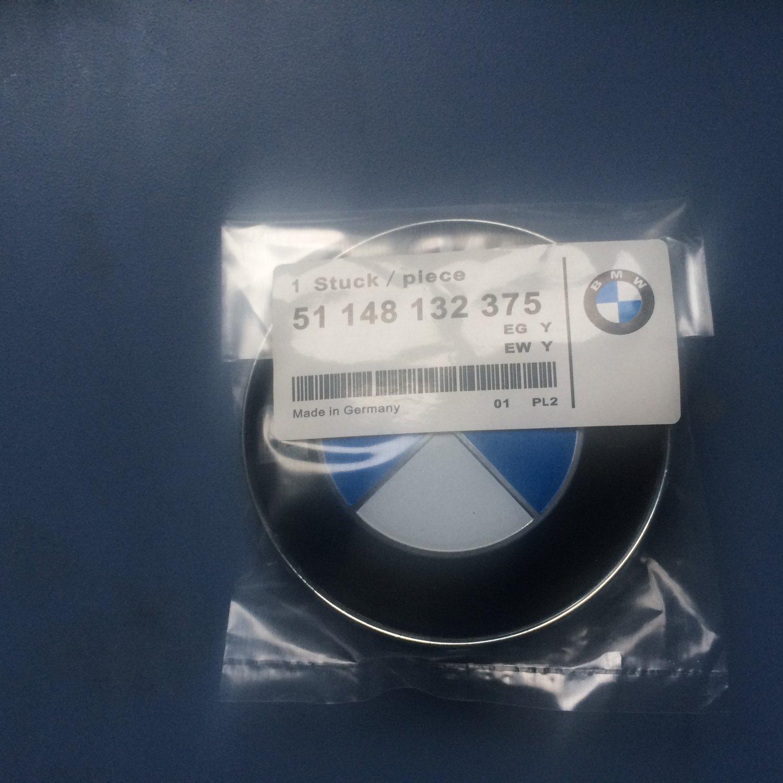 bmw front hood engine trunk lid emblem badge0 oem 51 148