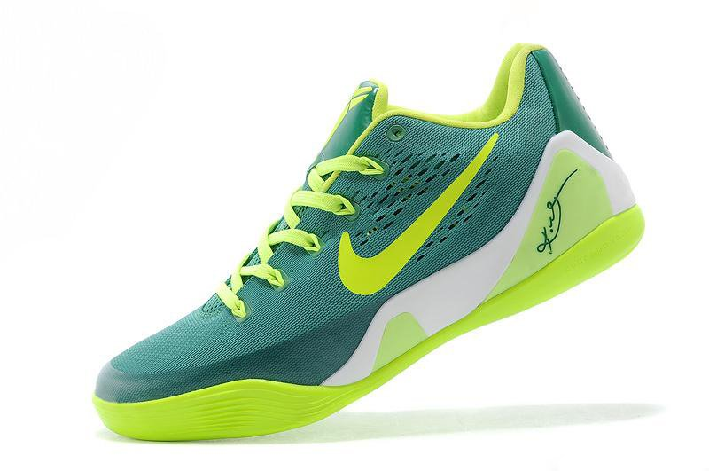 2014 Nike Kobe 9 EM Low 653972-614 Volt Green Basketball Shoes