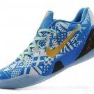 Cheap Nike 683251-168 Kobe 9 EM Low Blue Gold basketball shoes