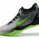 Cheap Nike Kobe VIII 8 2014 System SS Christmas Wars Black Green Basketball Shoes Sale