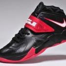 Nike LeBron 7 VII Soldier Black Red mens basketball shoes