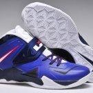 Nike LeBron 7 VII Soldier Blue Black White mens basketball shoes