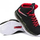 Nike Lebron 10 2013 Black Red White mens basketball shoes