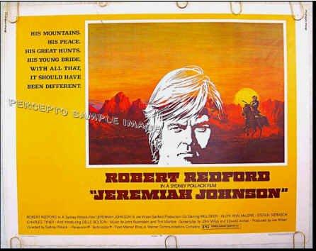 JEREMIAH JOHNSON  Rolled '72 Half-Sheet Movie Poster!  ROBERT REDFORD
