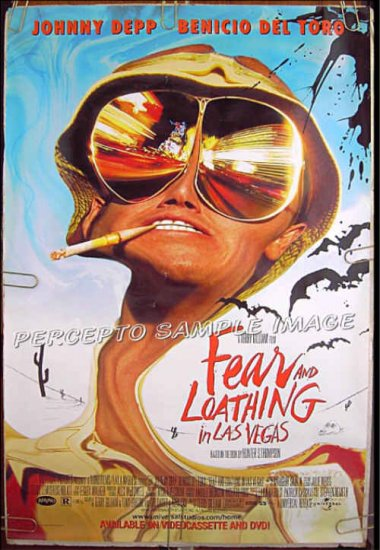 FEAR AND LOATHING IN LAS VEGAS ~ '98 1-Sheet Movie Poster ~ JOHNNY DEPP / HUNTER S. THOMPSON