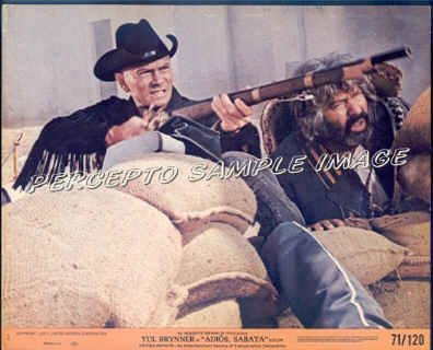 ADIOS SABATA ~ '71 Color Western Movie Photo ~  YUL BRYNNER