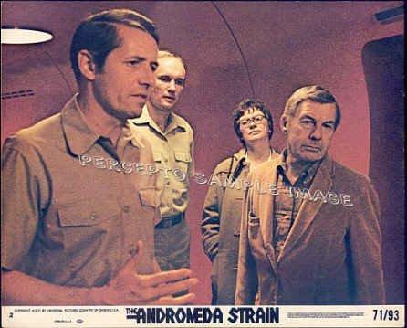 ANDROMEDA STRAIN ~ '71 MICHAEL CRICHTON Sci-Fi Movie Photo ~  ARTHUR HILL / DAVID WAYNE