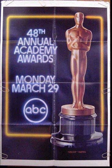 ACADEMY AWARDS / OSCARS ~ RARE 1976 ABC-TV 1-Sheet PROMO THEATRE POSTER