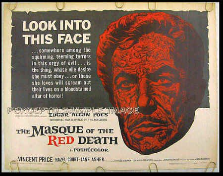 MASQUE OF THE RED DEATH ~ '64 AIP Poe Half-Sheet Movie Poster ~   VINCENT PRICE / ROGER CORMAN