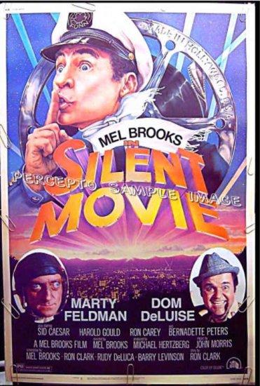 SILENT MOVIE ~ Rare-Size '76 40x60 Movie Poster ~ MEL BROOKS / MARTY FELDMAN / DOM DeLUISE