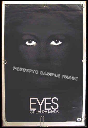 EYES OF LAURA MARS  ~ Orig '78 1-Sheet Movie Art Poster ~ FAYE DUNAWAY / TOMMY LEE JONES