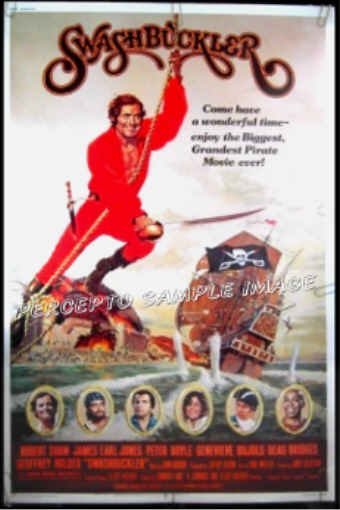 SWASHBUCKLER  '76 Rare-Size 40x60 PIRATE MOVIE Poster!  ROBERT SHAW