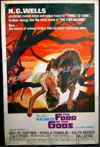 FOOD OF THE GODS ~  '76 40x60 AIP Giant Rat Movie Poster ~  IDA LUPINO / DREW STRUZAN ART