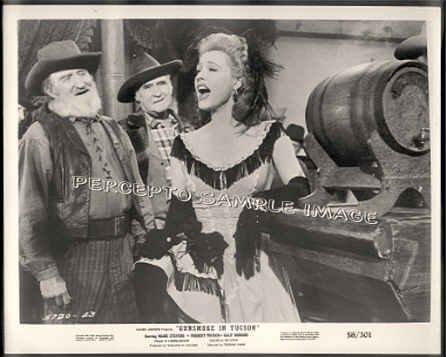 GUNSMOKE IN TUCSON ~ '59 Western Saloon Movie Photo ~  GALE ROBBINS