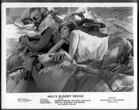 HELL'S BLOODY DEVILS ~  Rare Orig '70 CYCLE GANG Movie Photo ~  BIKER CHICK